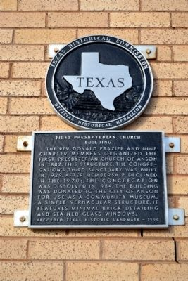 First Presbyterian Church Building Marker image. Click for full size.