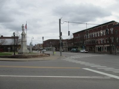 Intersection of US 11 and NY 30 / East Main Street and Elm Street image. Click for full size.