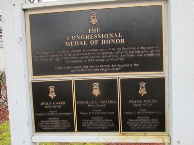 The Congressional Medal of Honor Marker image. Click for full size.