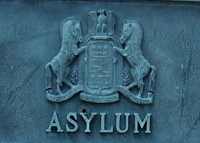 Asylum Marker (<i>detail</i>) image. Click for full size.