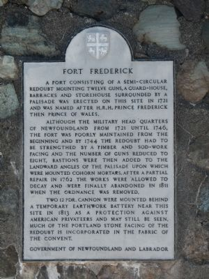 Fort Frederick Marker image. Click for full size.