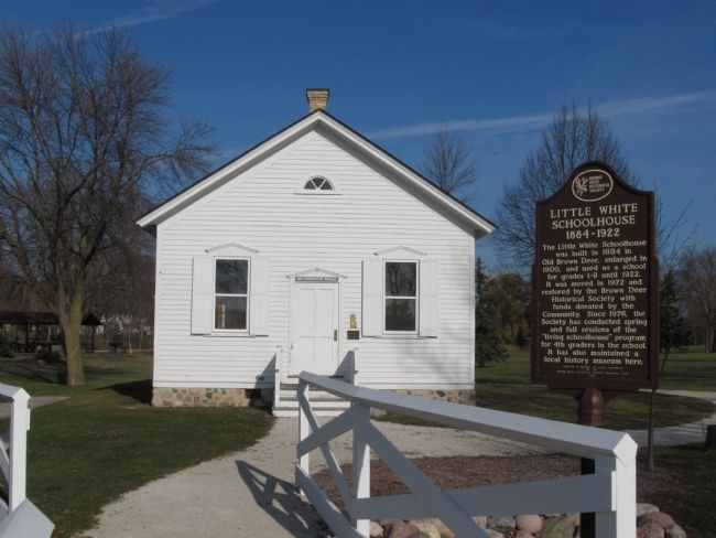 Little White Schoolhouse Marker image. Click for full size.