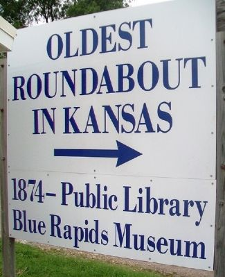 Oldest Roundabout in Kansas Marker image. Click for full size.