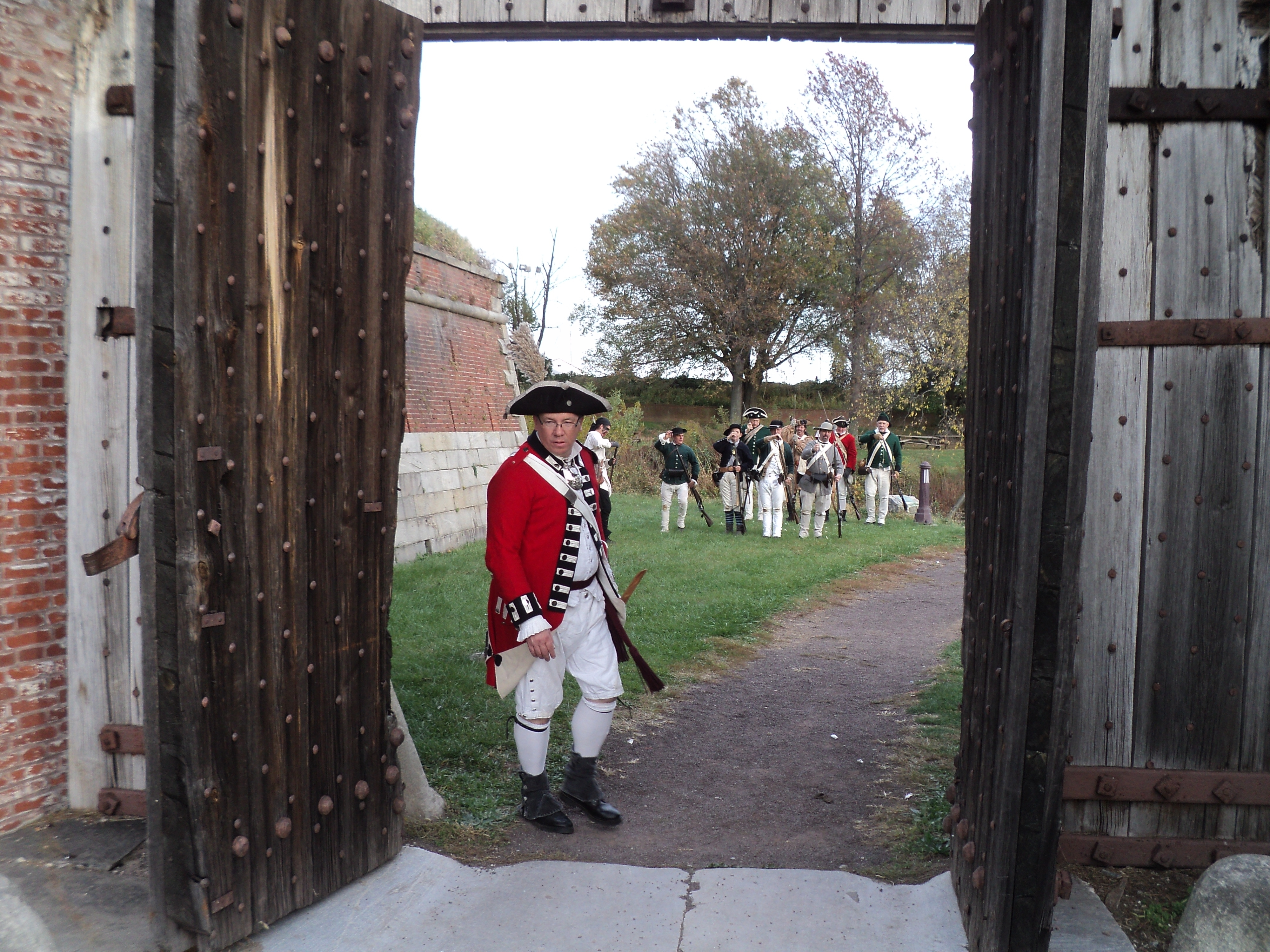British Officer at the Main Gate