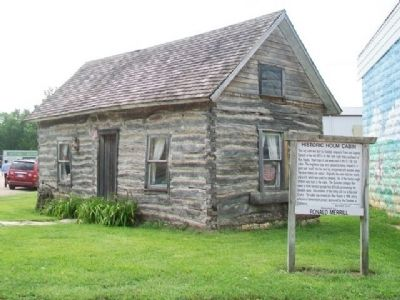 Historic Holm Cabin and Marker image. Click for full size.