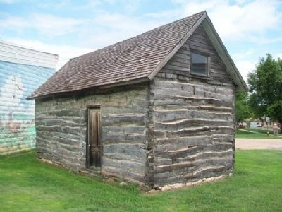 Rear Facade of Historic Holm Cabin image. Click for full size.