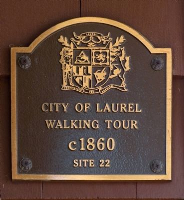 Site 22, c. 1860 Laurel Walking Tour image. Click for full size.