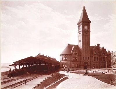 <i>Chicago and Northwestern R.Y. Station, Milwaukee, Wis.</i> image. Click for full size.