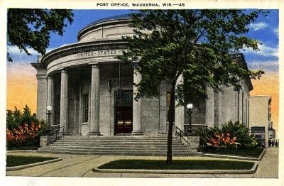 <i>Post Office, Waukesha, Wis.</i> image. Click for full size.