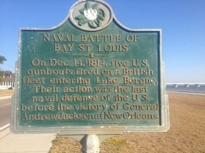 Naval Battle of Bay St. Louis Marker image. Click for full size.