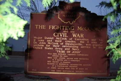 The Fighting McCooks and the Civil War Marker image. Click for full size.