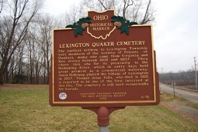 Lexington Quaker Cemetery Marker image. Click for full size.