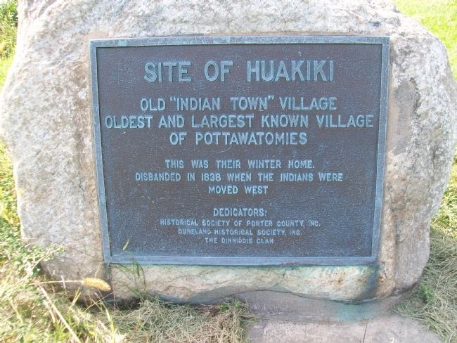 Potawatomi Village Site Marker image. Click for full size.