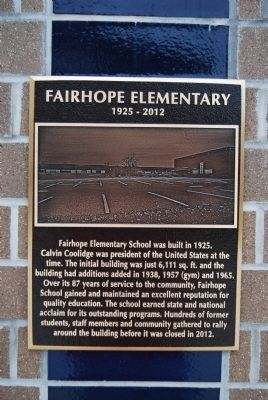 Fairhope Elementary Marker image. Click for full size.