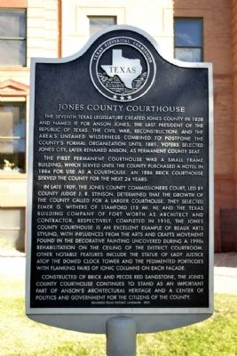 Jones County Courthouse Marker image. Click for full size.