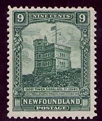 Cabot Tower on a Newfoundland postage stamp image. Click for full size.