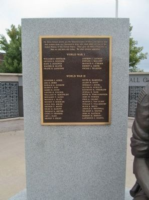 Clintonville Veterans Memorial Left Plaque image. Click for full size.
