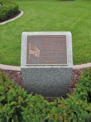 Clintonville Veterans Memorial Donor Plaque image. Click for full size.