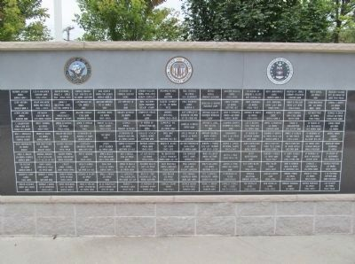 Clintonville Veterans Memorial Right Panel image. Click for full size.