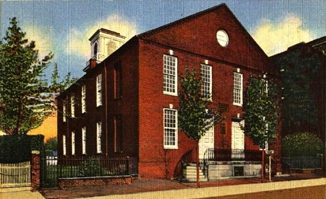 <i>Old Presybyterian Meeting House Alexandria, Va. Erected 1774</i> image. Click for full size.