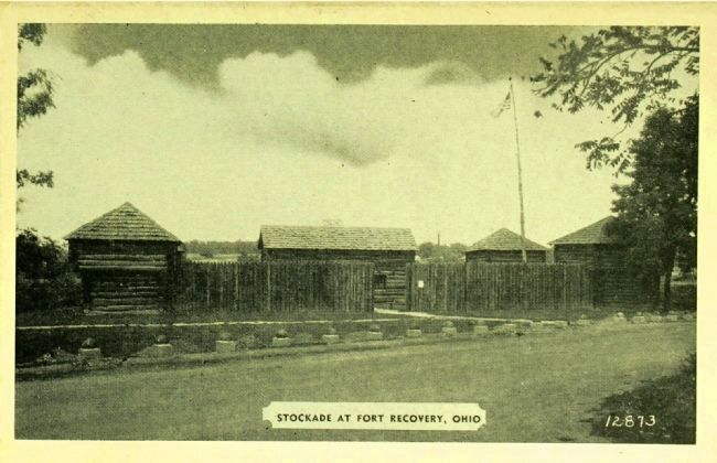 <i>Stockade at Fort Recovery, Ohio</i> image. Click for full size.