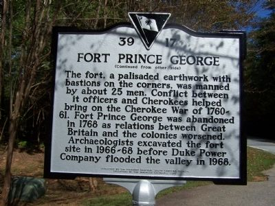 Fort Prince George Marker image. Click for full size.