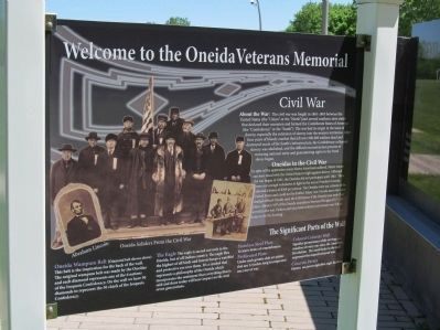 Oneida Veterans Memorial Marker image. Click for full size.
