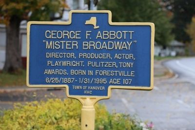 George F. Abbott Marker image. Click for full size.