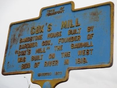 Cox's Mill Marker image. Click for full size.