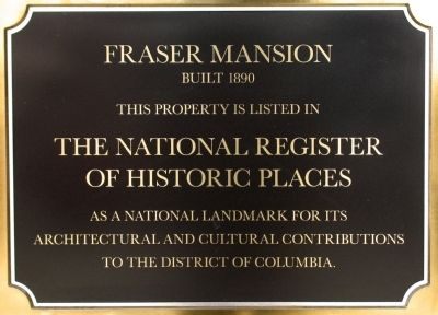 Fraser Mansion Marker image. Click for full size.