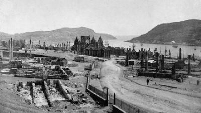 St. John's after The Great Fire of 1892 image. Click for full size.