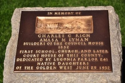 Charles C Rich / Amasa M Lyman Marker image. Click for full size.