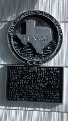 Haynie Chapel Methodist Church Marker image. Click for full size.