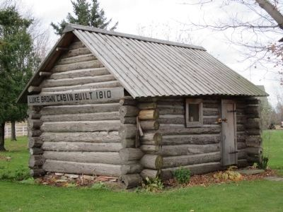 """Luke Brown Cabin Built 1810"" image. Click for full size."
