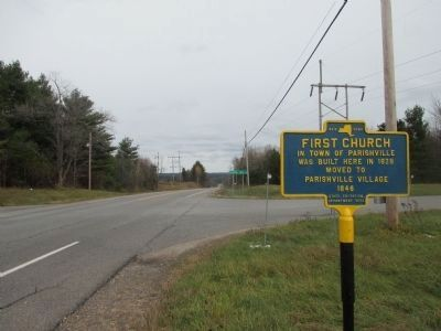 Eastward on NY 72 Towards Intersection image. Click for full size.