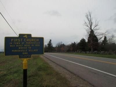 Westward on NY 72 - Cemetery at Right image. Click for full size.