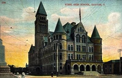 <i>Steel High School, Dayton, O.</i> image. Click for full size.