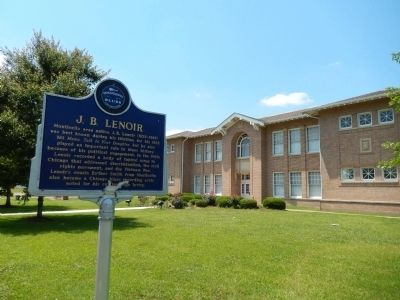 J. B. Lenoir Marker (<i>Lawrence County Civic Center view</i>) image. Click for full size.