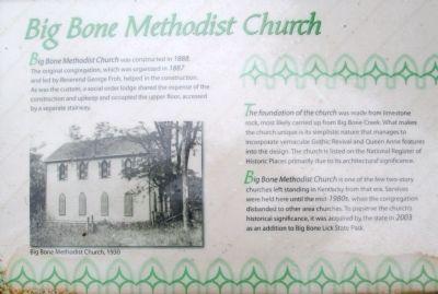 Big Bone Methodist Church Marker image. Click for full size.