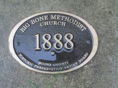 Big Bone Methodist Church 2nd Marker image. Click for full size.