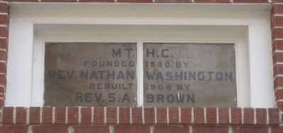 Window above the entrance doors of Mt. Hope Baptist Church image. Click for full size.