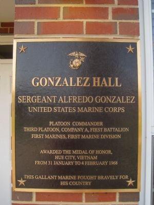 Gonzalez Hall Marker image. Click for full size.