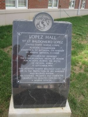 Lopez Hall Marker image. Click for full size.