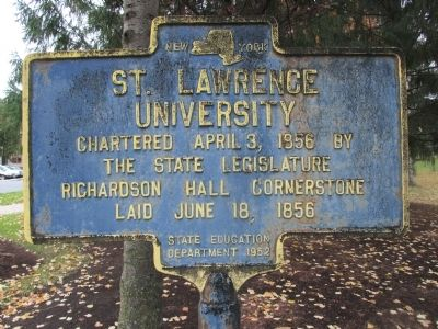 St. Lawrence University Marker image. Click for full size.