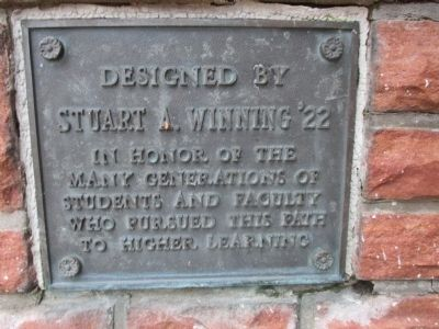 Plaque at Walkway to Richardson Hall image. Click for full size.