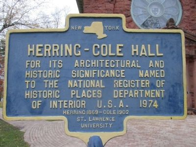 Herring - Cole Hall Marker image. Click for full size.