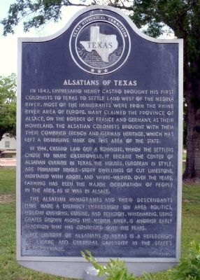 Alsatians of Texas Marker image. Click for full size.