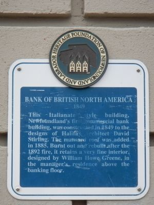 Bank of British North America Marker image. Click for full size.