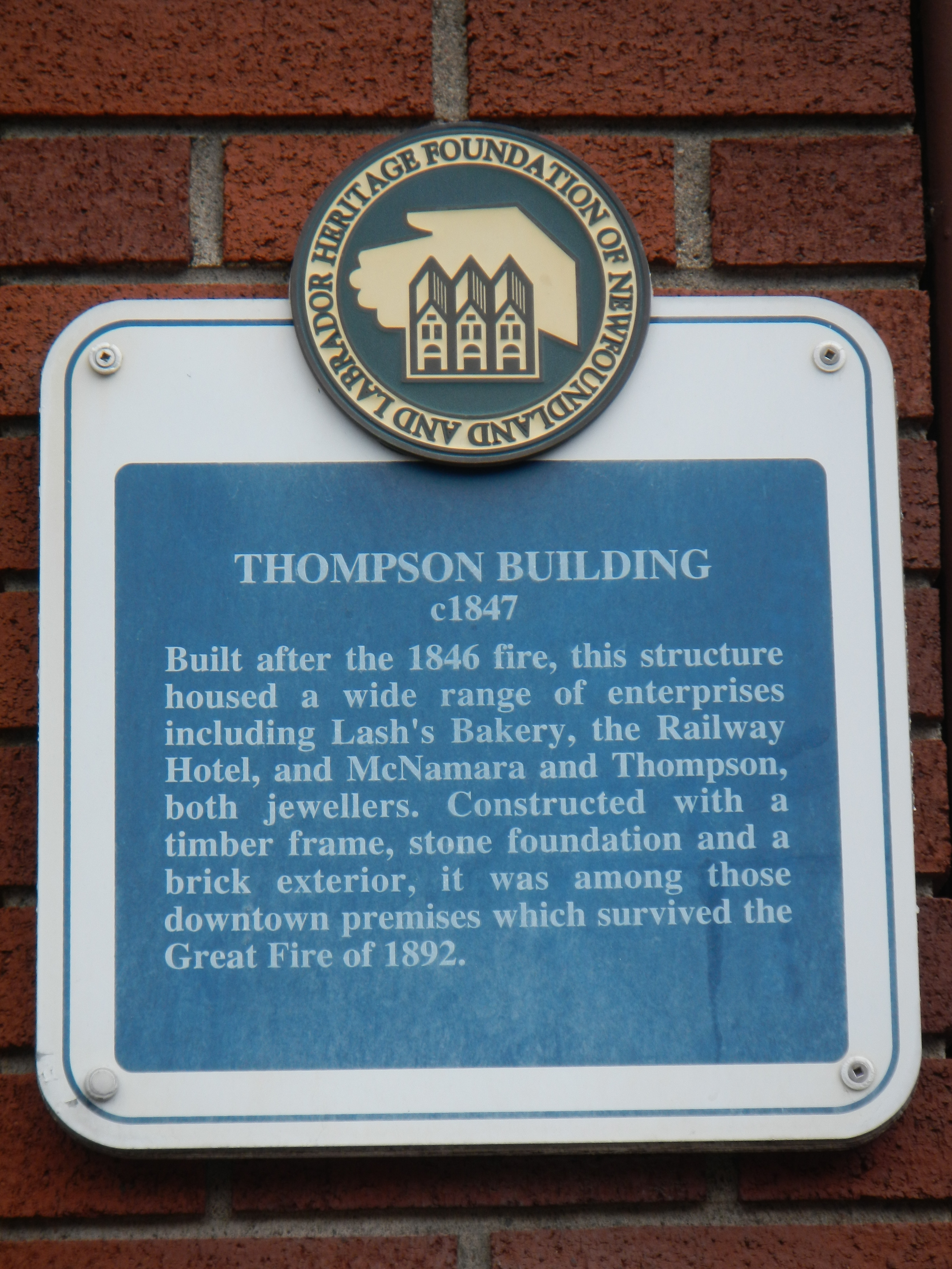 Thompson Building Marker