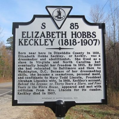 Elizabeth Hobbs Keckley (1818-1907) Marker image. Click for full size.
